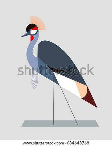 image of a crowned crane in a