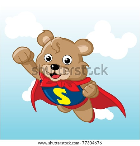 Image of a cute bear. Suitable for product mascot or just web usage.