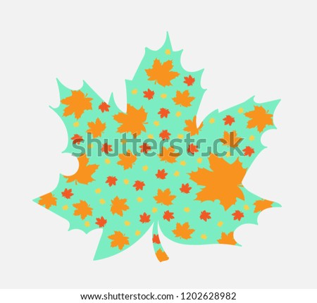 image of a maple leaf inside