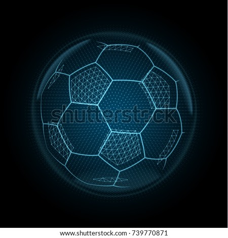 image of a soccer ball made of