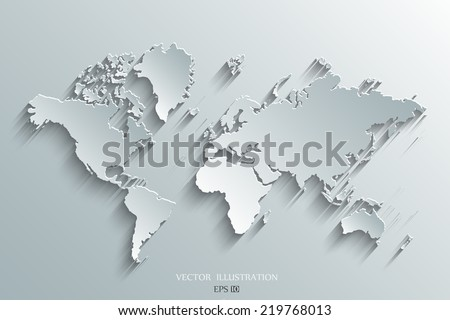 Image of a vector world map #219768013