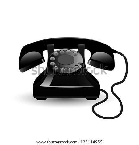 Image of a vintage phone isolated on a white background.