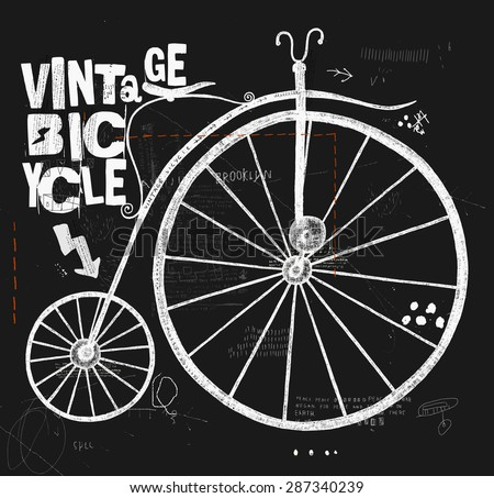 image of an old bicycle with a