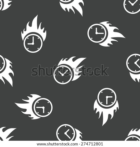 image of clock on fire repeated