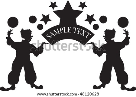 image of clowns in vector format - stock vector