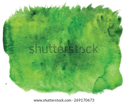 Stock Photo Image of grass, made watercolors - nice spring or summer background/ trace auto.