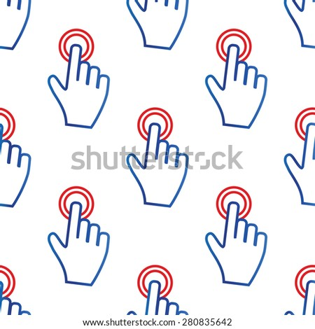 image of hand cursor touching