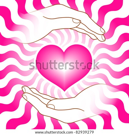 image of heart with hands