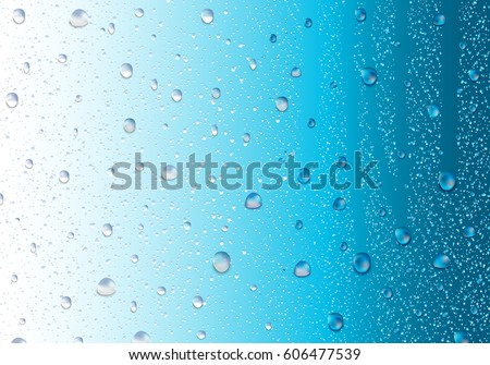image of raindrops on blue