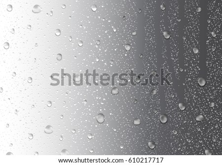 image of raindrops on gray