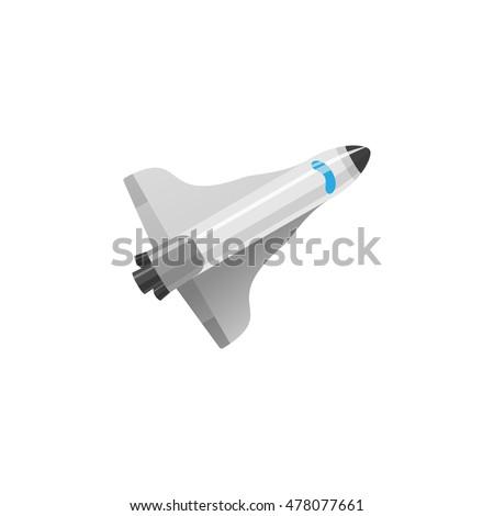 image of rocket flat style