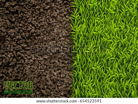 image of soil and green grass