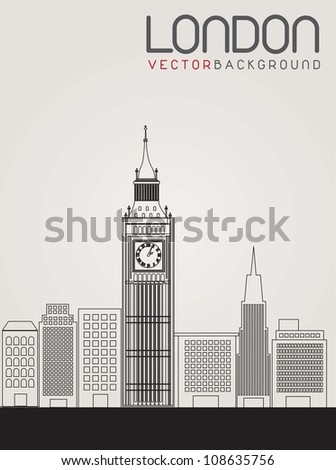 image of the city of London. Vector illustration