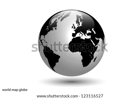 Image of the world globe isolated on a white background.
