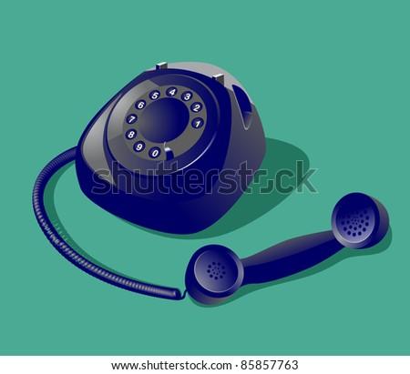 Image of vintage style telephone