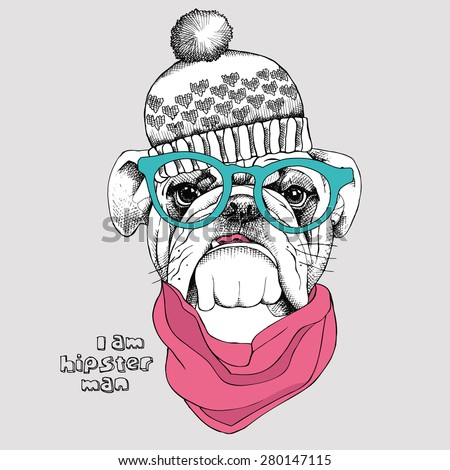 image portrait bulldog in