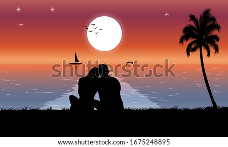 image silhouette twilight with