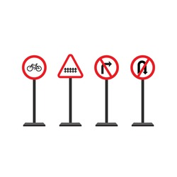 image Traffic signs, used to provide road conditions for road users.
