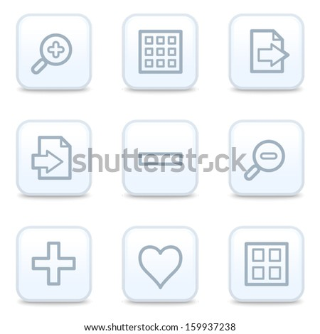 Image viewer web icons, square buttons