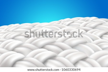 image zoom fabric fibers. Vector realistic file.