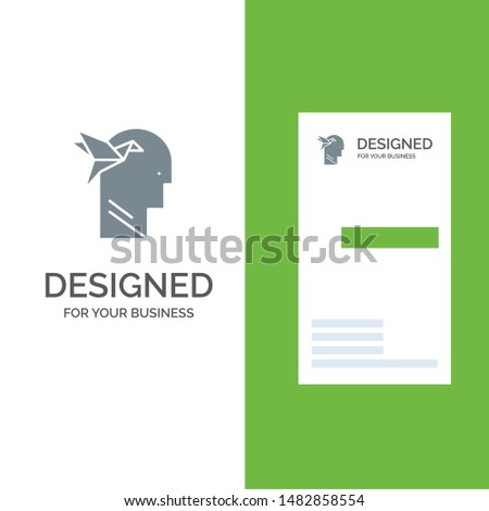 Imagination Form, Imagination, Head, Brian Grey Logo Design and Business Card Template