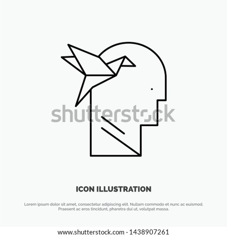Imagination Form, Imagination, Head, Brian Line Icon Vector