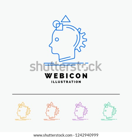 Imagination, imaginative, imagine, idea, process 5 Color Line Web Icon Template isolated on white. Vector illustration