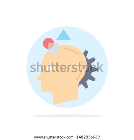 Imagination, imaginative, imagine, idea, process Flat Color Icon Vector