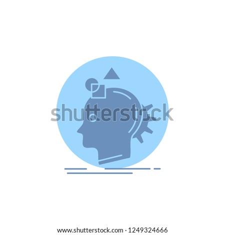 Imagination, imaginative, imagine, idea, process Glyph Icon.