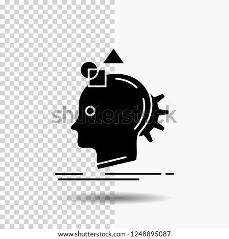 Imagination, imaginative, imagine, idea, process Glyph Icon on Transparent Background. Black Icon