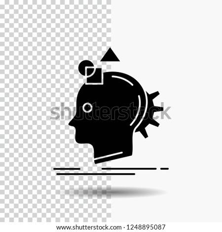 Imagination, imaginative, imagine, idea, process Glyph Icon on Transparent Background. Black Icon