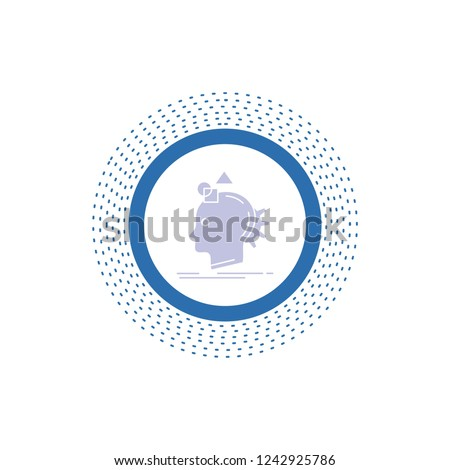 Imagination, imaginative, imagine, idea, process Glyph Icon. Vector isolated illustration