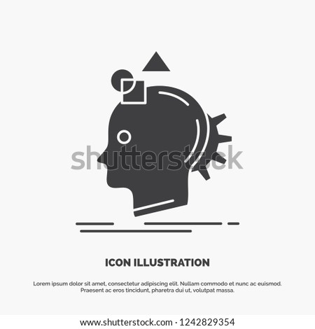 Imagination, imaginative, imagine, idea, process Icon. glyph vector gray symbol for UI and UX, website or mobile application