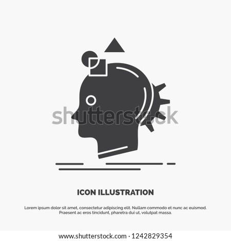 Imagination, imaginative, imagine, idea, process Icon. glyph vector gray symbol for UI and UX, website or mobile application
