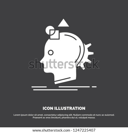 Imagination, imaginative, imagine, idea, process Icon. glyph vector symbol for UI and UX, website or mobile application