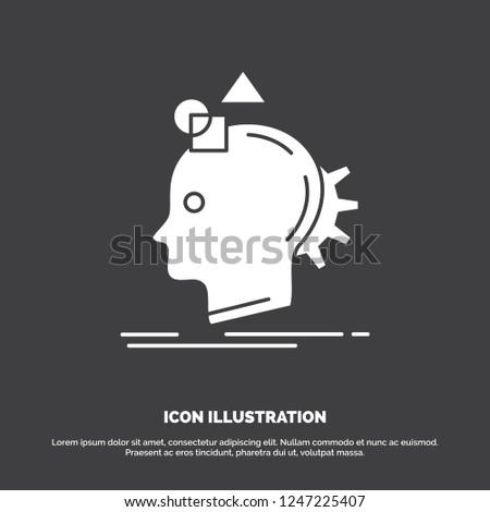 Imagination, imaginative, imagine, idea, process Icon. glyph vector symbol for UI and UX, website or mobile application