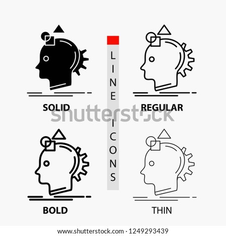 Imagination, imaginative, imagine, idea, process Icon in Thin, Regular, Bold Line and Glyph Style. Vector illustration