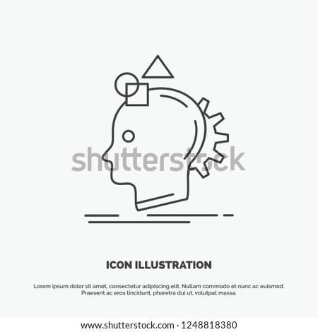 Imagination, imaginative, imagine, idea, process Icon. Line vector gray symbol for UI and UX, website or mobile application