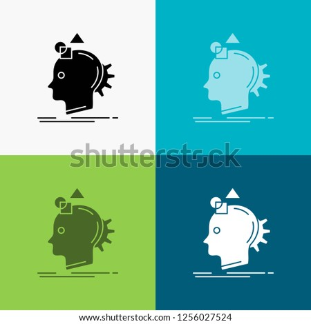 Imagination, imaginative, imagine, idea, process Icon Over Various Background. glyph style design, designed for web and app. Eps 10 vector illustration