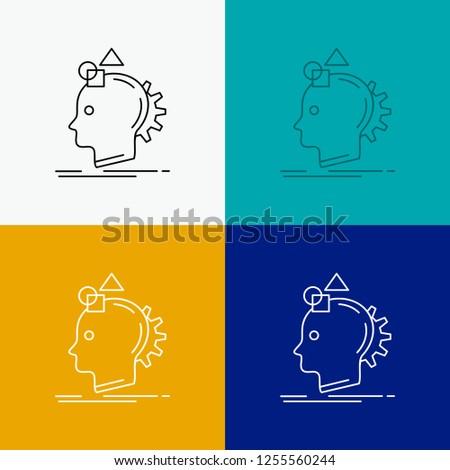 Imagination, imaginative, imagine, idea, process Icon Over Various Background. Line style design, designed for web and app. Eps 10 vector illustration