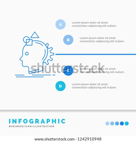 Imagination, imaginative, imagine, idea, process Infographics Template for Website and Presentation. Line Blue icon infographic style vector illustration