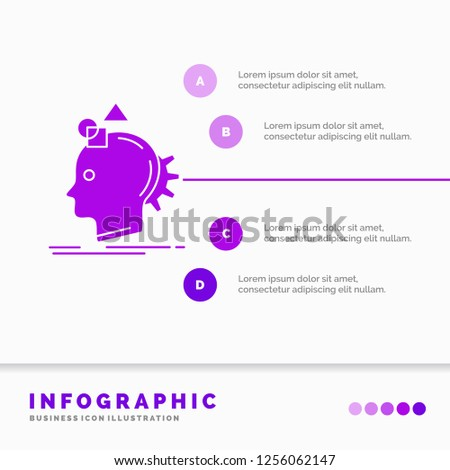 Imagination, imaginative, imagine, idea, process Infographics Template for Website and Presentation. GLyph Purple icon infographic style vector illustration.