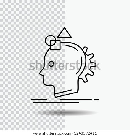 Imagination, imaginative, imagine, idea, process Line Icon on Transparent Background. Black Icon Vector Illustration
