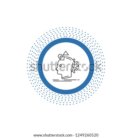 Imagination, imaginative, imagine, idea, process Line Icon. Vector isolated illustration