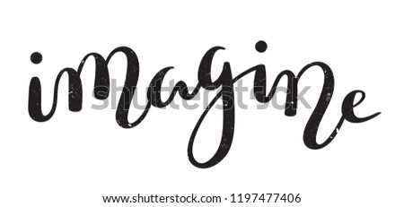 IMAGINE brush calligraphy banner