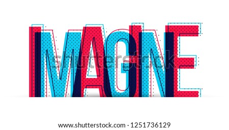 Imagine word vector isolated on white background