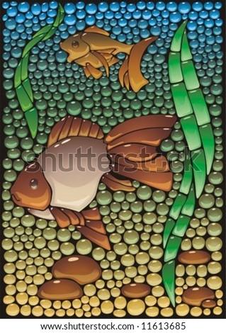 imitation of a mosaic panel