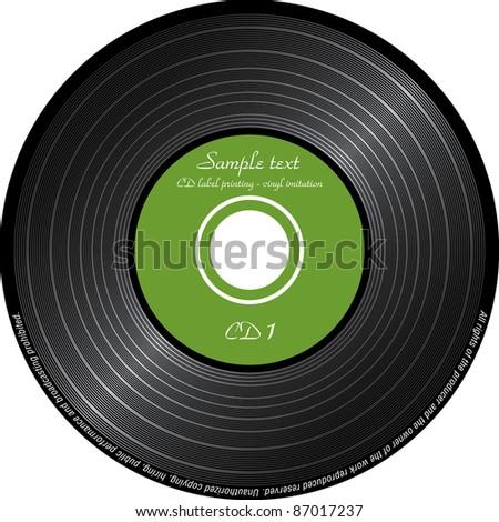 imitation vinyl Stock fotó ©