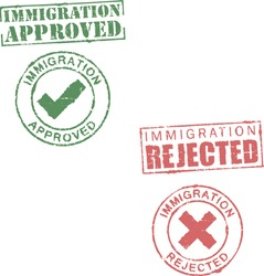Immigration approved/rejected stamps