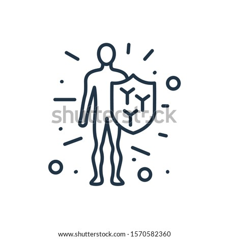 Immune system icon. Isolated immunity and immune system icon line style. Premium quality vector symbol drawing concept for your logo web mobile app UI design.